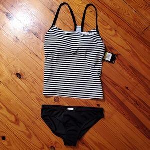NWT RARE Sexy Nike Dri Fit Striped Tankini Bikini
